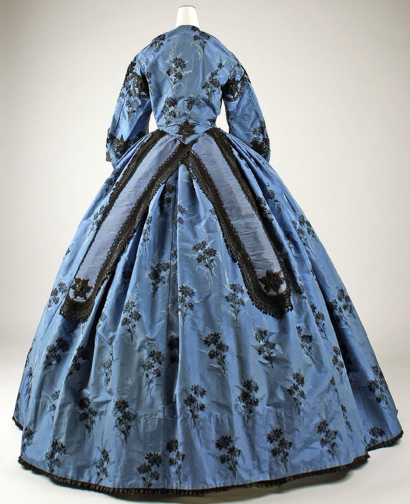 Dress, ca. 1863, French, silk, Purchase, Judith and Ira Sommer Gift, 1999, Metropolitan Museum of Art, 1999.123a–c