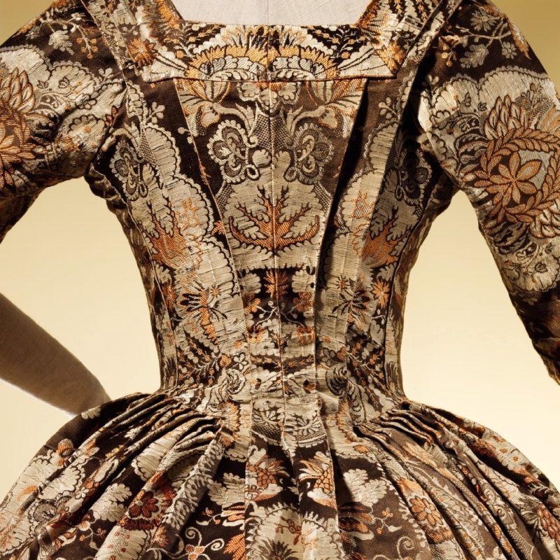 Gown, ca. 1725, British, silk, Purchase Irene Lewisohn Bequest 1964 Metropolitan Museum of Art C.I.64.14