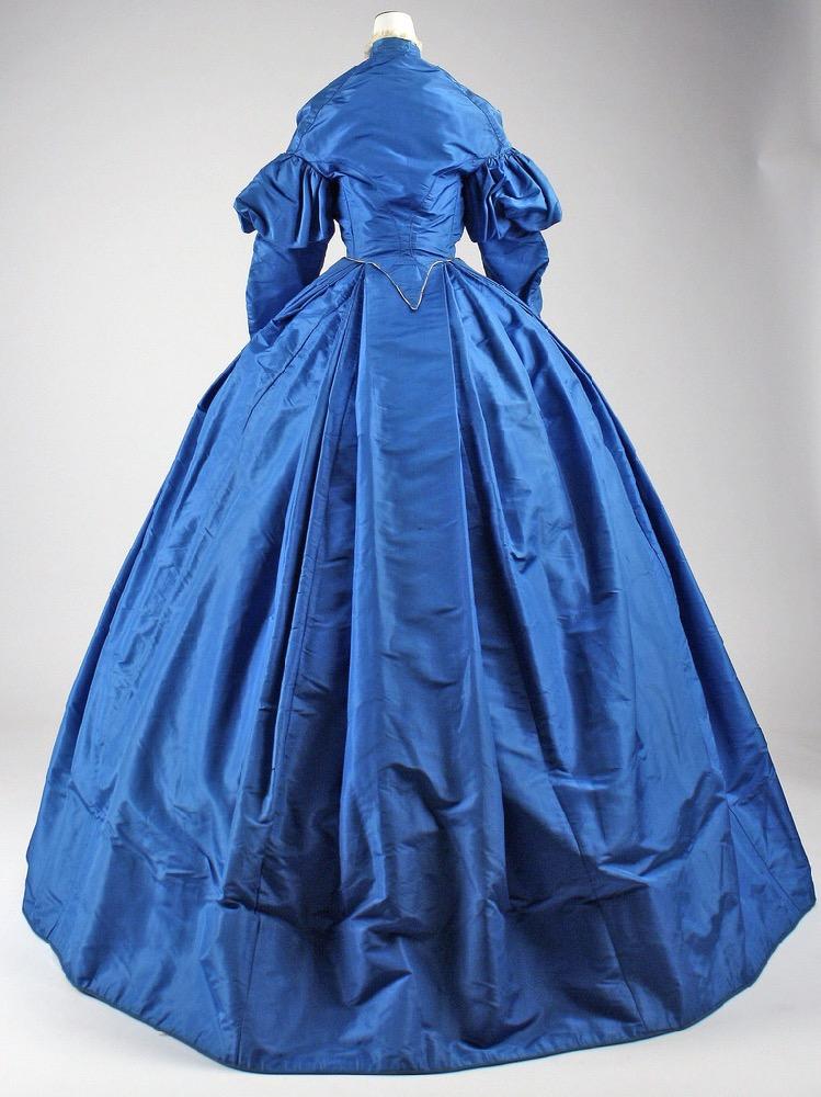 Day dress, ca. 1867, American, silk, Metropolitan Museum of Art C.I.40.164.1a–c