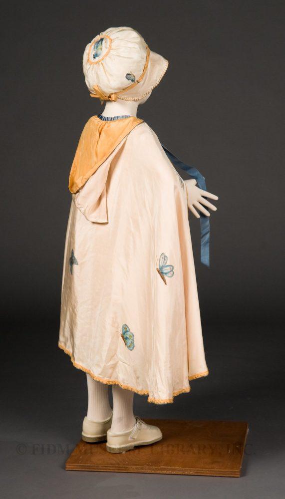 Child's 'Dainty Blossom' Ensemble, Daisy Stanford, Hand-painted silk, c. 1925, FIDM, 2003.5.24A-C