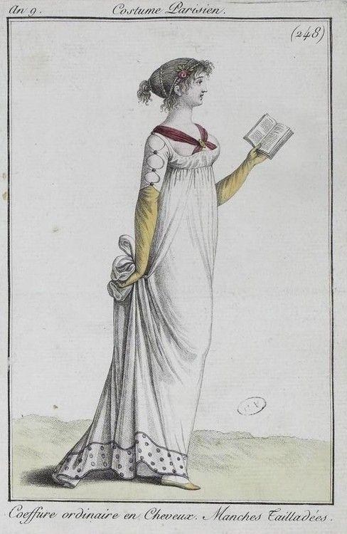 Costume Parisiene, ca. 1795,  Bibliothèque des Arts Décoratifs.