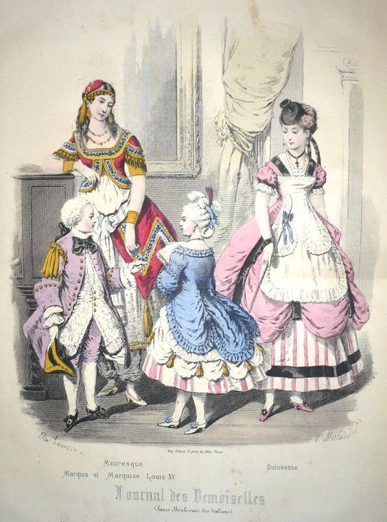 Journal des Demoiselles, Fancy Dress, ca 1870