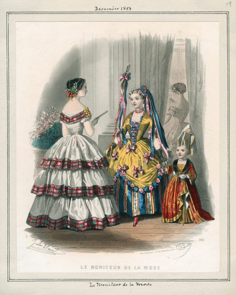 Le Monitor De La Mode, December, 1853, v. 36, plate 79, Tessa LAPL.org rbc4264 (1)