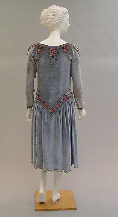 Robe de Style, Paul Poiret (French, Paris 1879–1944 Paris), 1925, French, silk, Metropolitan Museum of Art, 1982.249