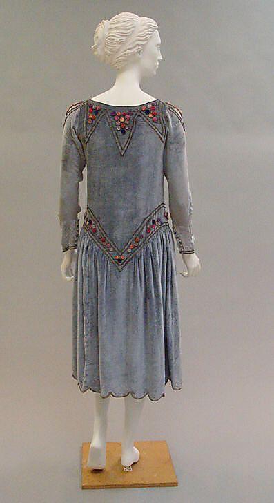 Robe de Style, Paul Poiret (French, Paris 1879–1944 Paris), 1925, French, silk, Metropolitan Museum of Art, 1982.249
