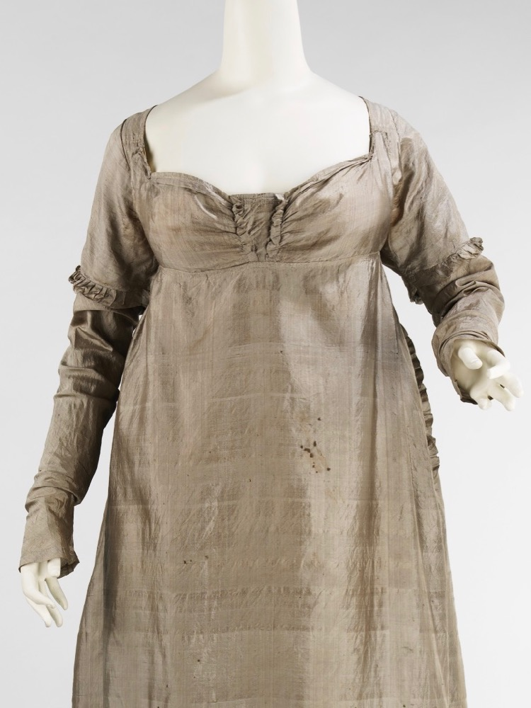 Dress, ca. 1805, American, silk, Brooklyn Museum Costume Collection at The Metropolitan Museum of Art, Gift of Charles Blaney, 1926, 2009.300.2314