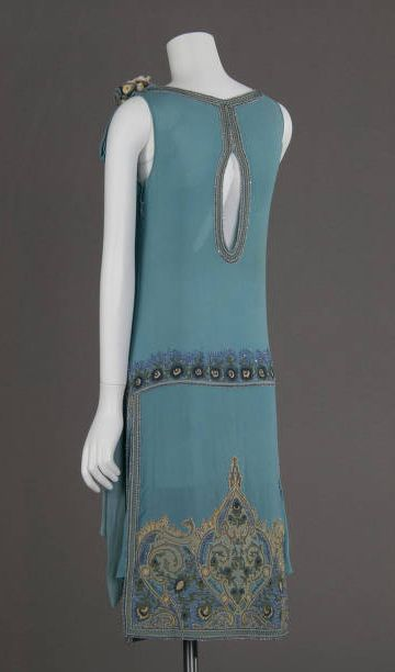 Dress, 1927, silk with embroidery and beading, Chicago Historical Society
