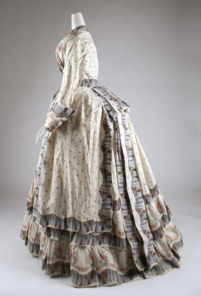 Morning Dress, 1870s, American, cotton, Gift of Mrs. Phillip H. Gray, 1950, Metropolitan Museum of Art, C.I.50.105.18a, b