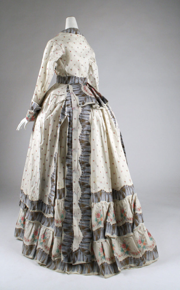 Morning Dress, 1870s, American, cotton, Gift of Mrs. Phillip H. Gray, 1950, Metropolitan Museum of Art, C.I.50.105.18a, b