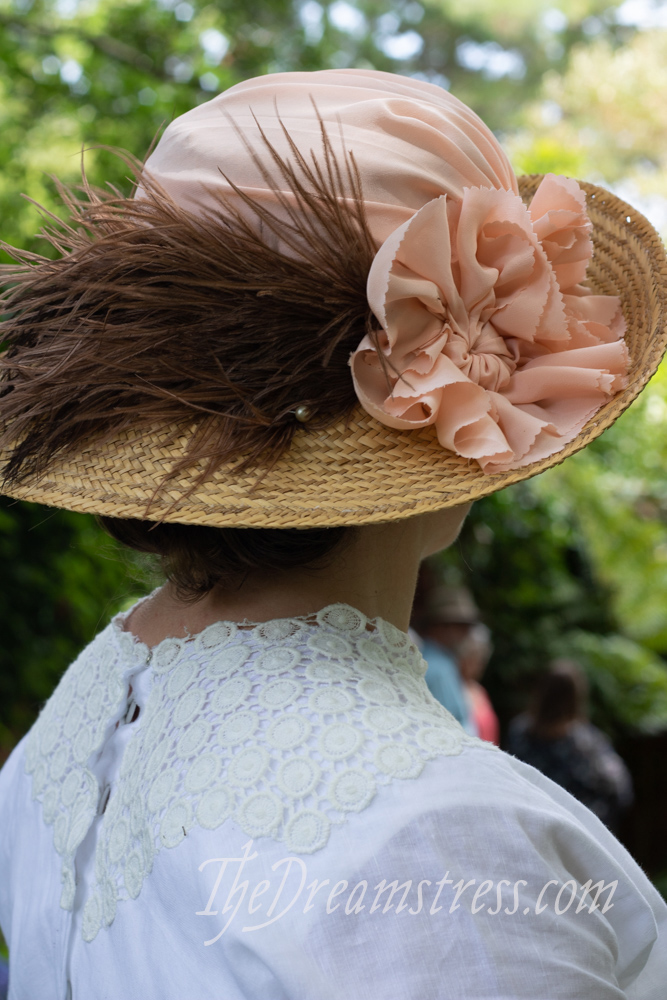 A 1910s-20s hat re-fashion thedreamstress.com