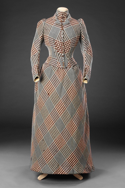 Dress, wool, circa 1890, John Bright Historic Costume Collection