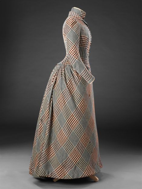 Dress, wool, circa 1890, John Bright Historic Costume Collection