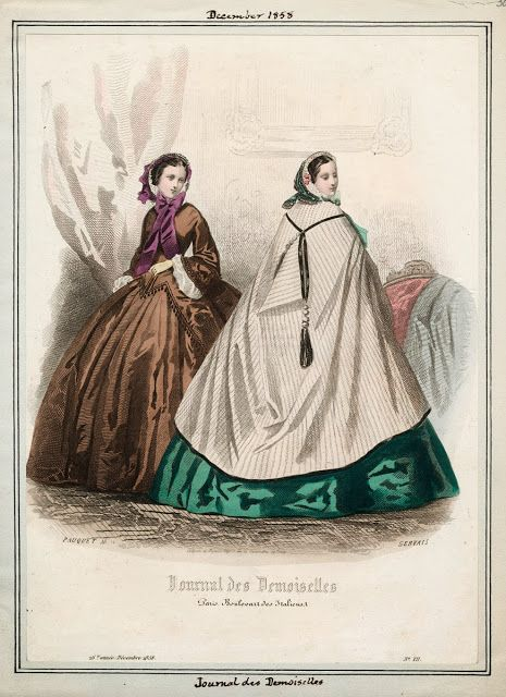 Burnous, Journal des Demoiselles, December 1858