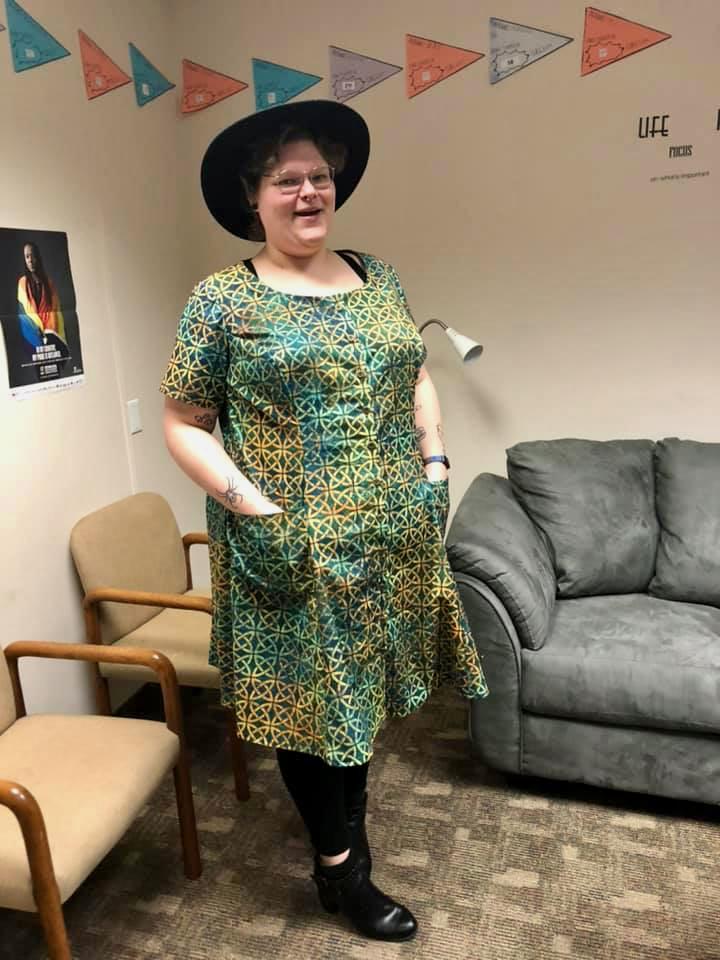 Scroop Patterns Robin Dress by @emsisfab