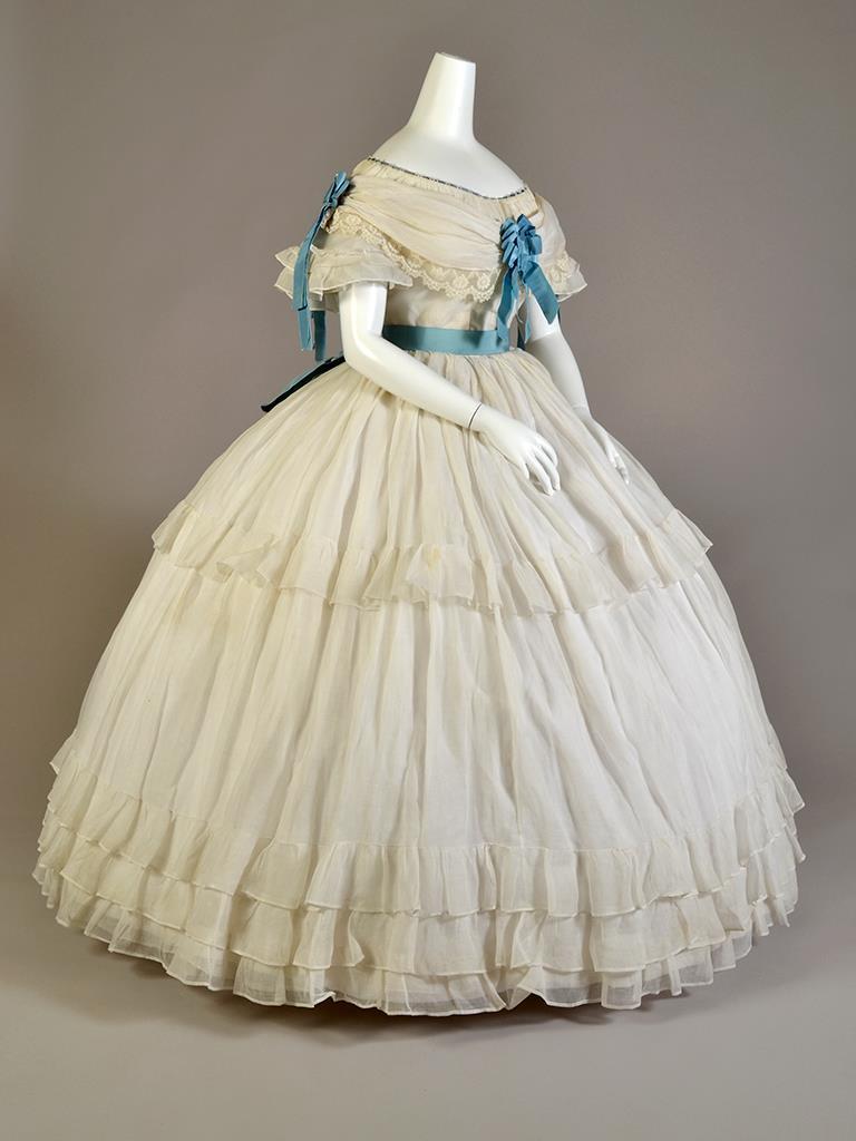 Dress ca. 1860, Kent State University Museum