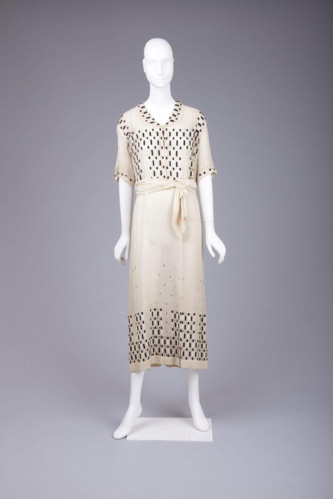 Dress, 1915, Silk with openwork embroidery, Goldstein Museum of Design, Gift of Charlotte Karlen, 2004.001.007