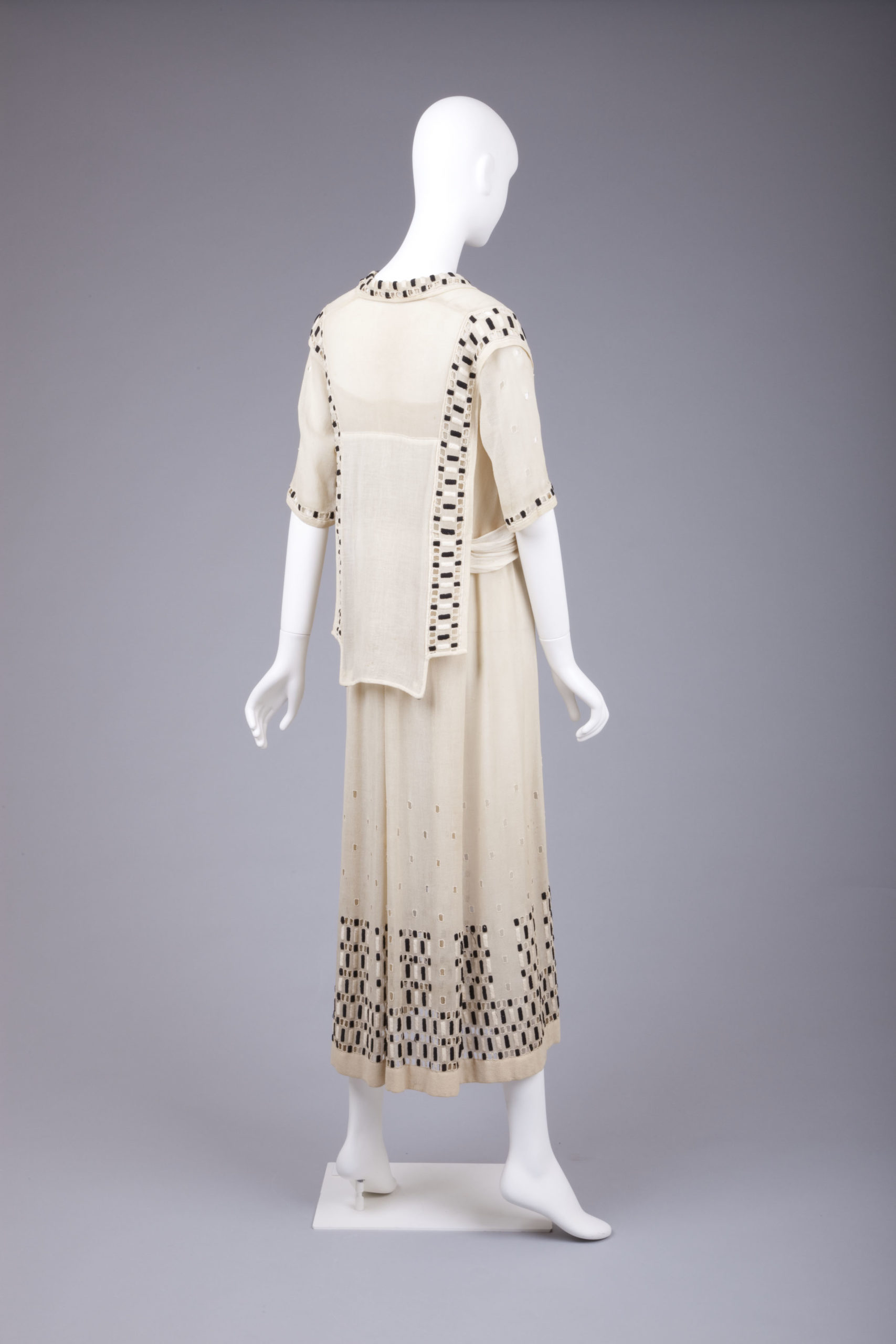 Dress, 1915, Silk with openwork embroidery, Goldstein Museum of Design, Gift of Charlotte Karlen, 2004.001.007