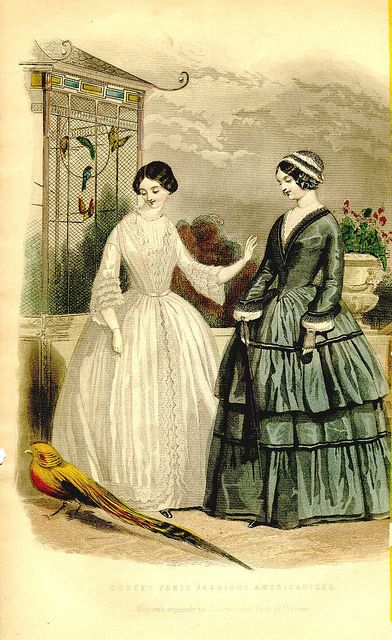 Morning Dress & At Home Costume, August 1849