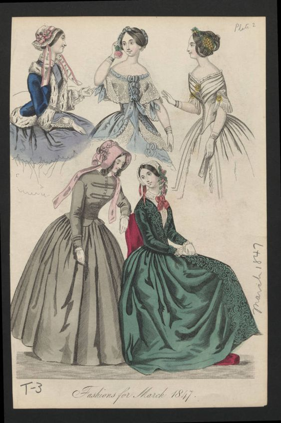 Fashions from 1847, Costume Institute Fashion Plates - Digital Collections from The Metropolitan Museum of Art Libraries