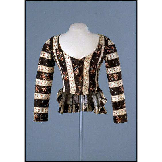 Jacket, cotton, ca 1790