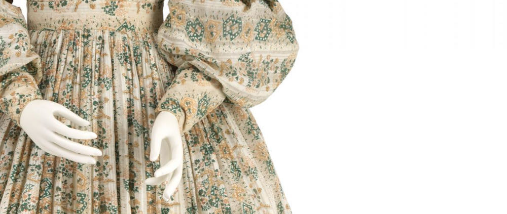 Morning Dress, England, 1834-1836, cotton, National Gallery of Victoria, CT13-1987