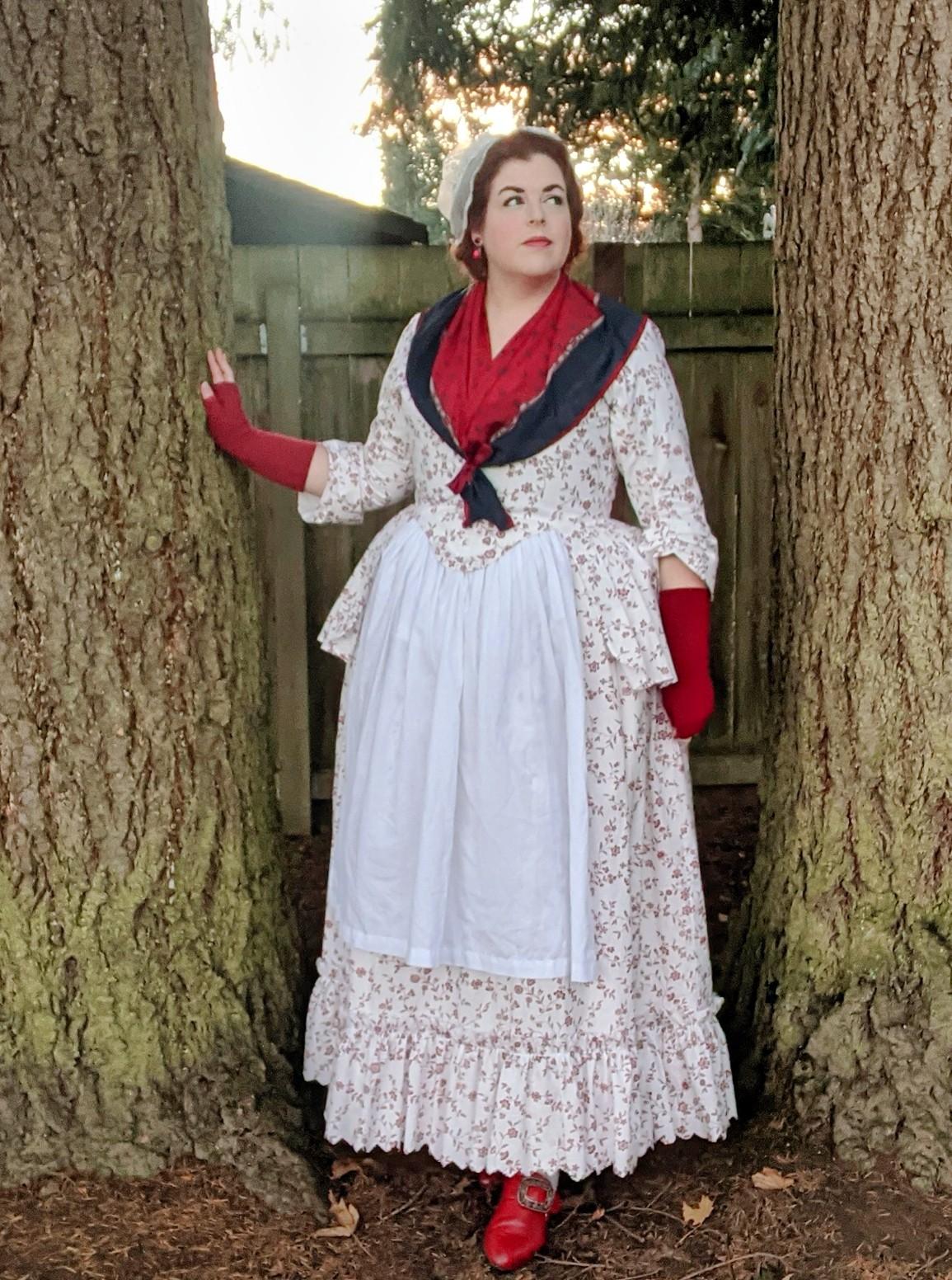 Rebecca of @ladyrebeccafashions in the Scroop + Virgil's Amalia Jacket