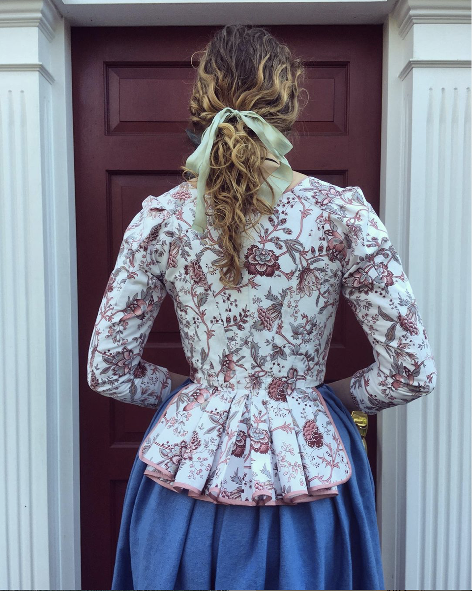 Samantha of @pinpricksandpetticoats in the Scroop + Virgils Fine Goods Amalia Jacket