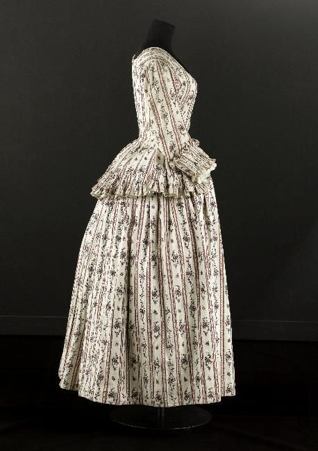 1780s Caraco and Petticoat, Musee Galliera