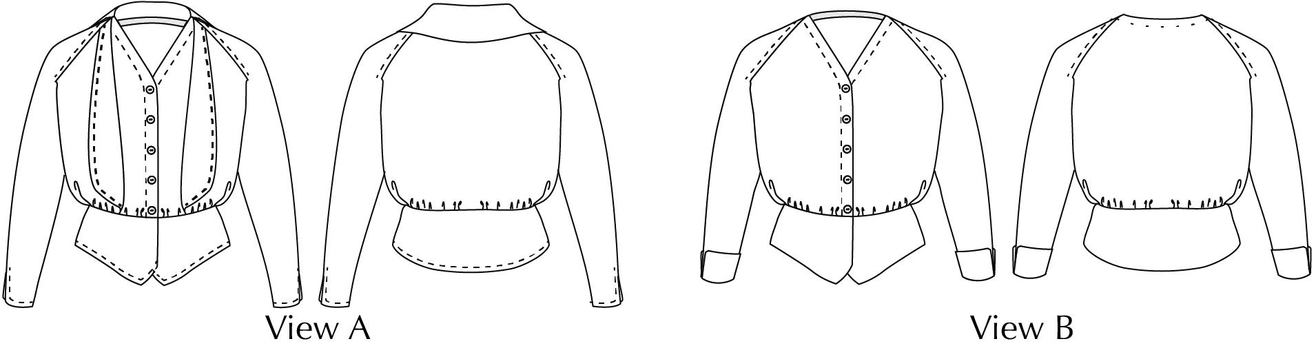 Selina Line Drawings ScroopPatterns.com