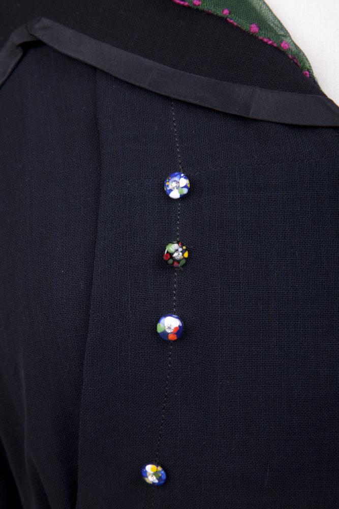 Dress, 1910-1919, silk?, wool? beads, Gift of Beryle Christesen, Goldstein Museum of Design, 1983.025.007