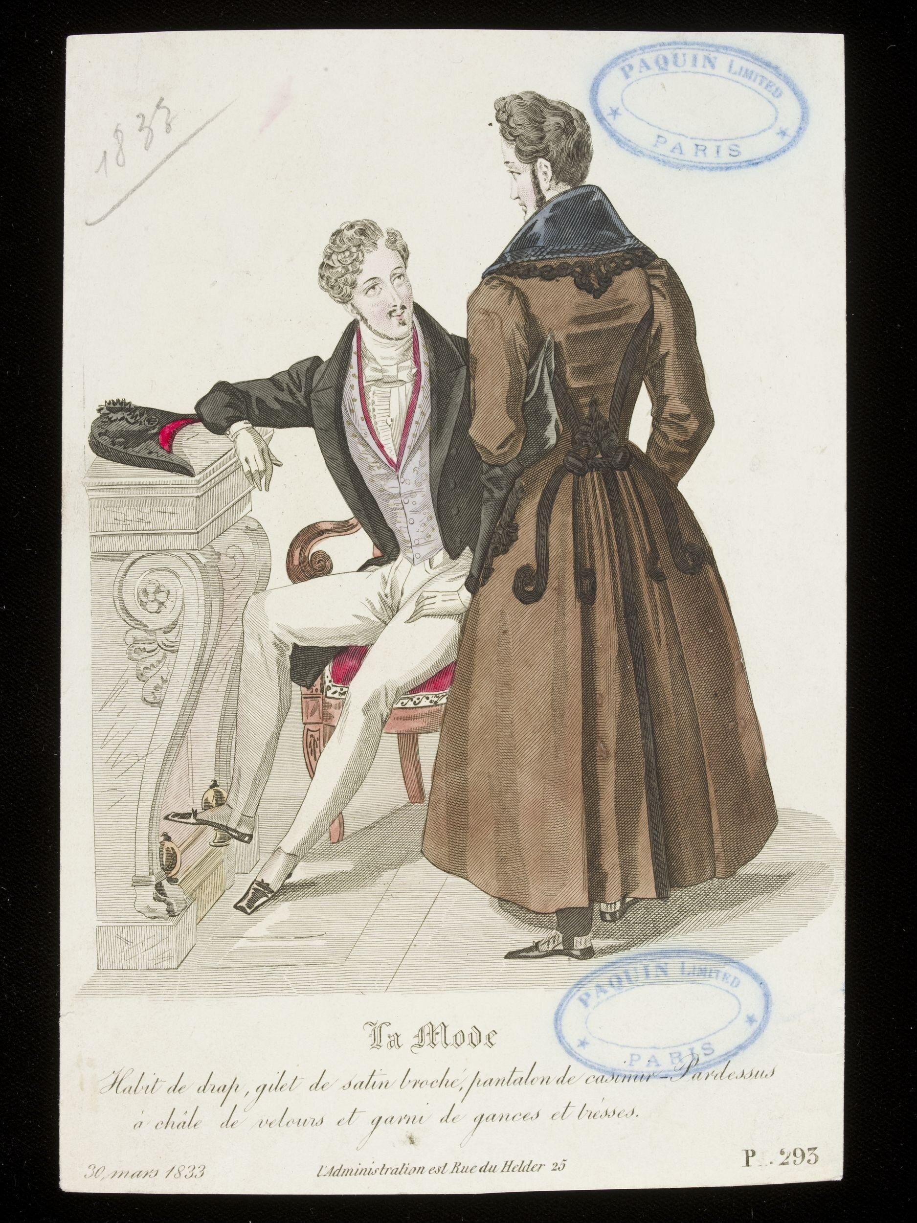 Fashion Plate,  30 March 1833 ©Victoria and Albert Museum E.22396 407-1957
