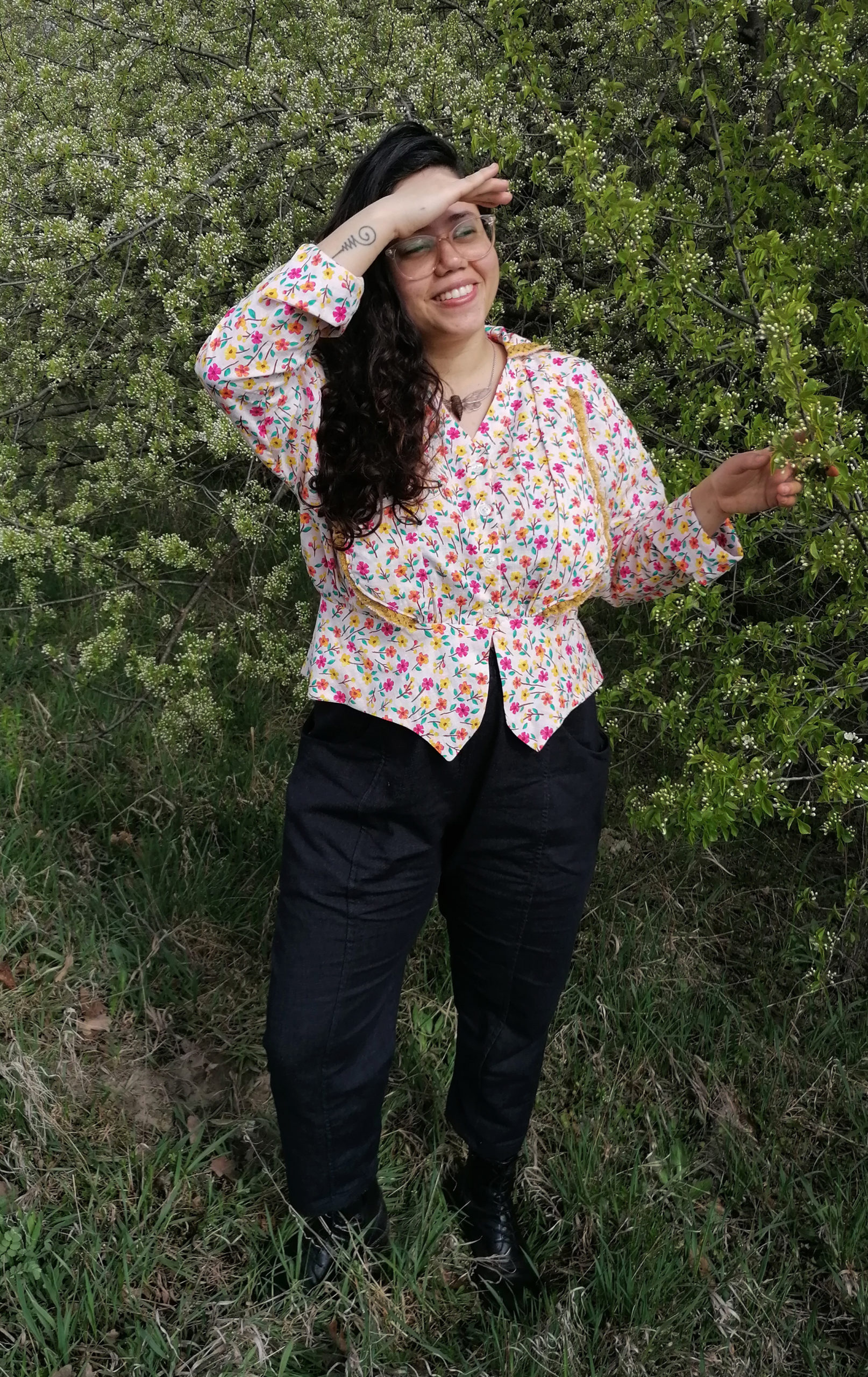 Gaëlle of @supergaelle in the Scroop Patterns Selina Blouse