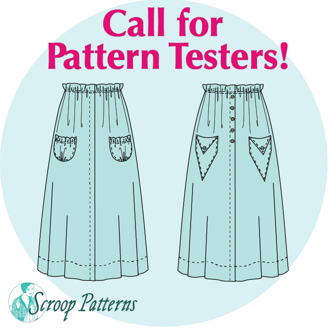 1915-18 Skirt Testers Wanted Skirt Pattern