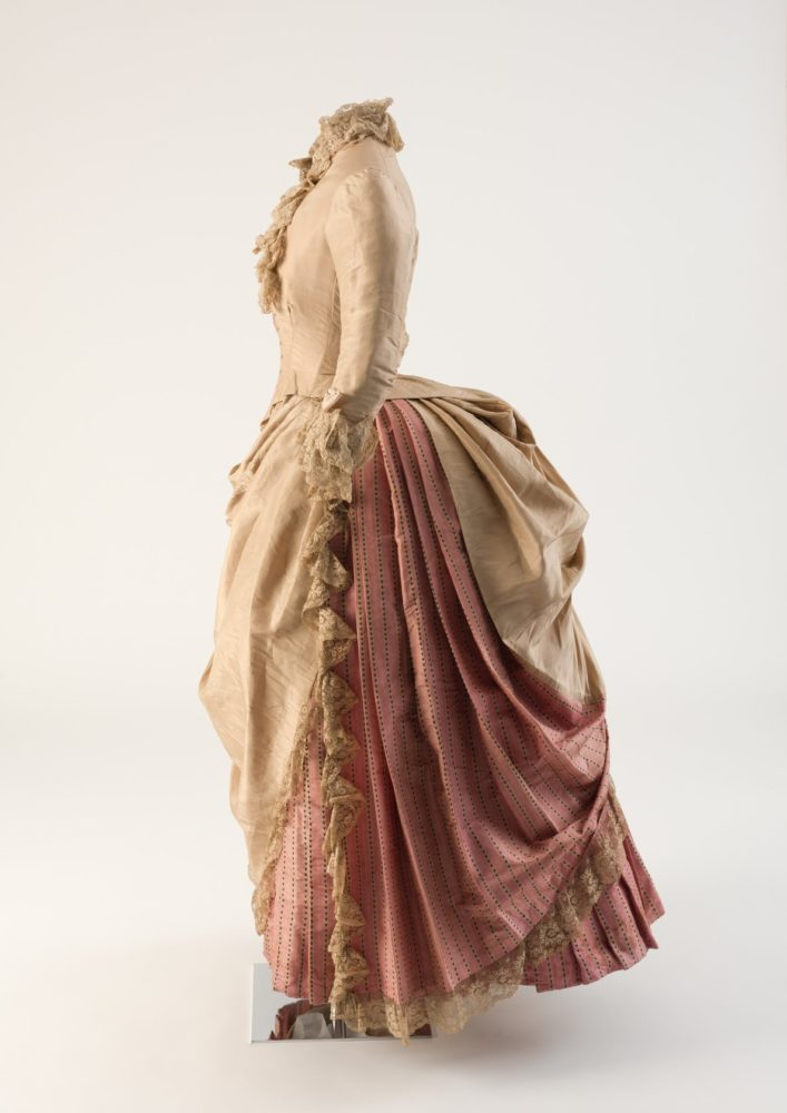 Dress in two parts, 1886, silk, Nicholson and Wordley of Camden Town, London Fashion Museum Bath