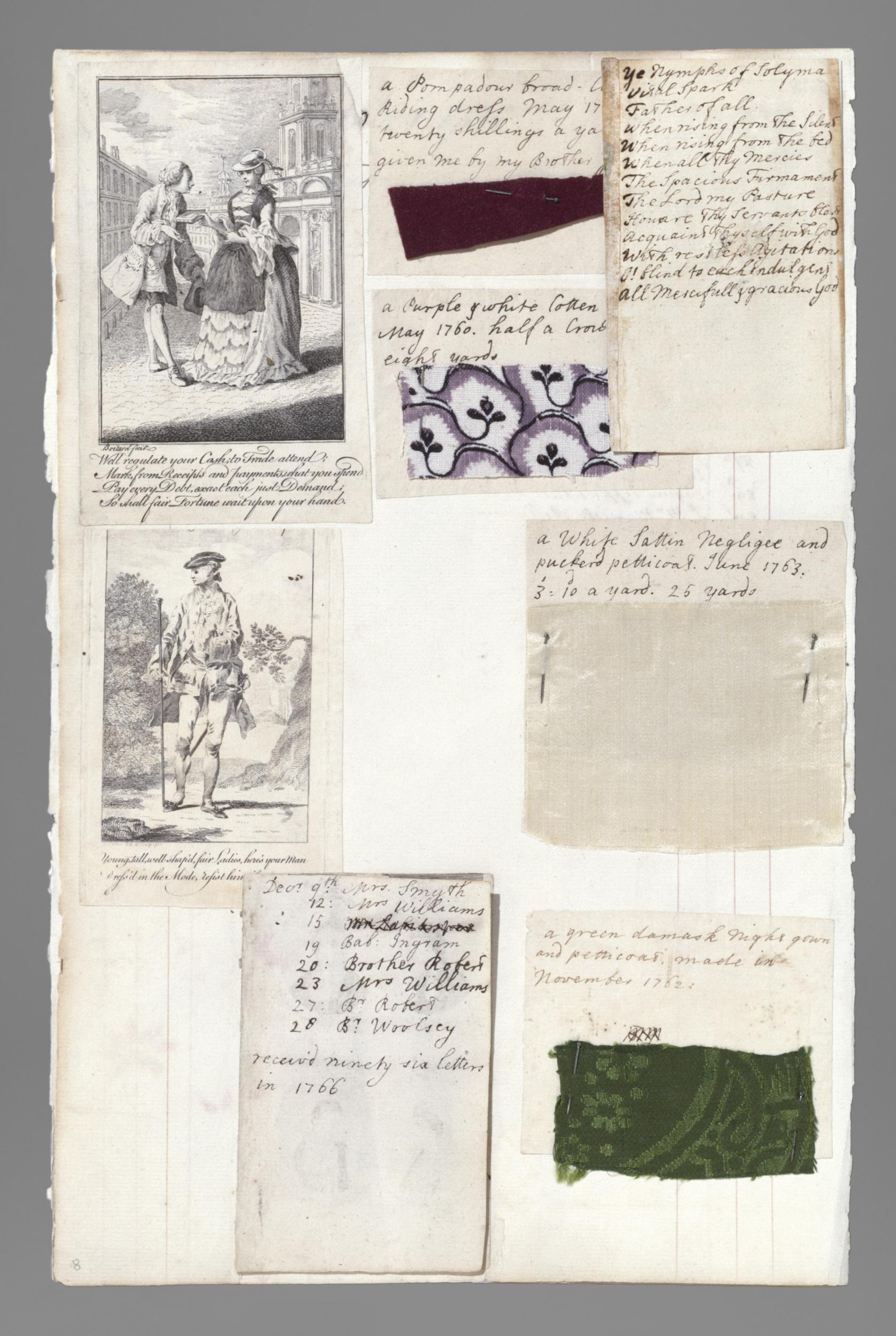 Barbara Johnson Album, England, 1746-1823, Paper, parchment, textiles, Victoria & Albert T.219-1973