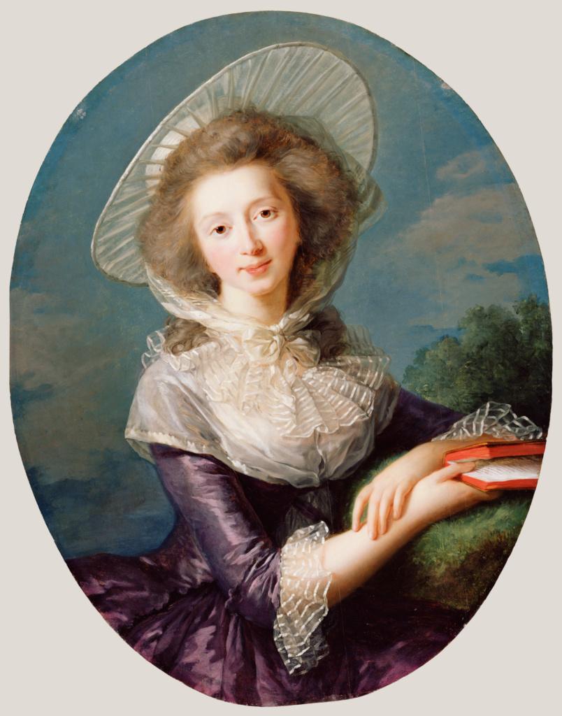 Élisabeth Louise Vigée Le Brun (French, 1755 - 1842) The Vicomtesse de Vaudreuil, 1785, Oil on panel 83.2 × 64.8 cm (32 3:4 × 25 1:2 in.), 85.PB.443 The J. Paul Getty Museum, Los Angeles