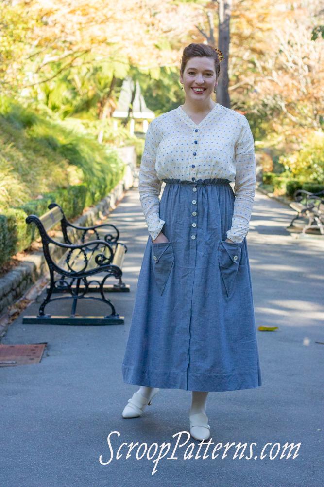 Scroop Patterns Kilbirnie Skirt scrooppatterns.com