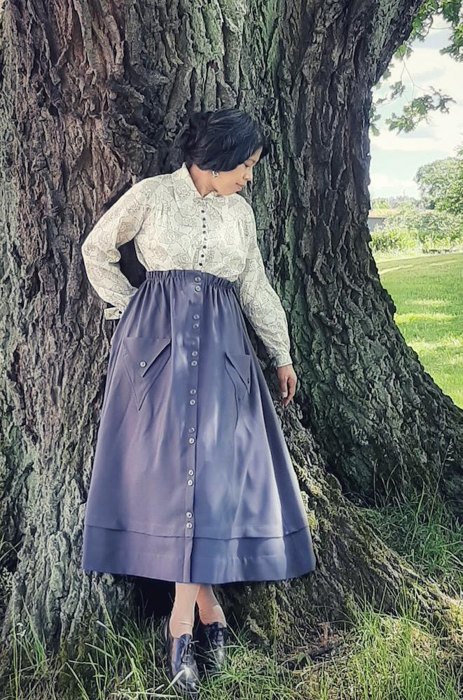 @litenkrubba in the Scroop Patterns Kilbirnie Skirt