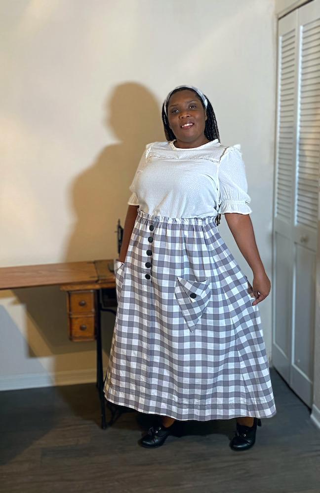 Mary @subterfuge in the Scroop Patterns Kilbirnie Skirt Scrooppatterns.com