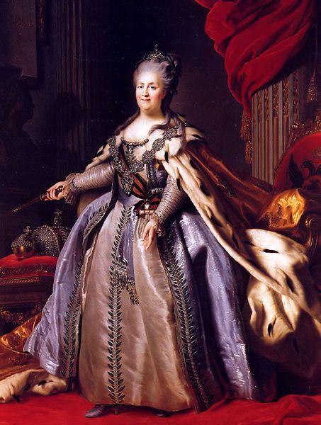 Portrait of Empress Catherine II of Russia, Fyodor Rokotov after Roslin 1780s, Hermitage