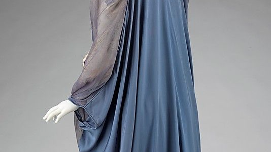 Tea Gown, 1910–15, French, silk, Brooklyn Museum Costume Collection at The Metropolitan Museum of Art, 2009.300.3093