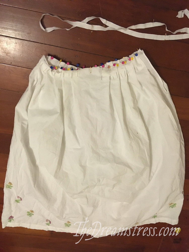 Recycled 18th c under-petticoat thedreamstress.com