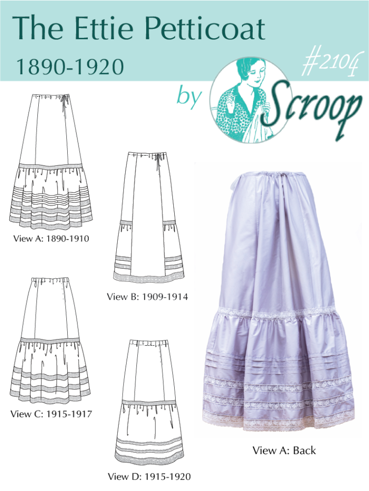 The front page of the Scroop Patterns Ettie Petticoat